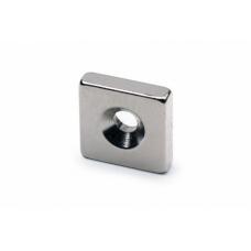 Неодимовый магнит призма 12х12х3 мм с зенковкой 3,5/6 мм